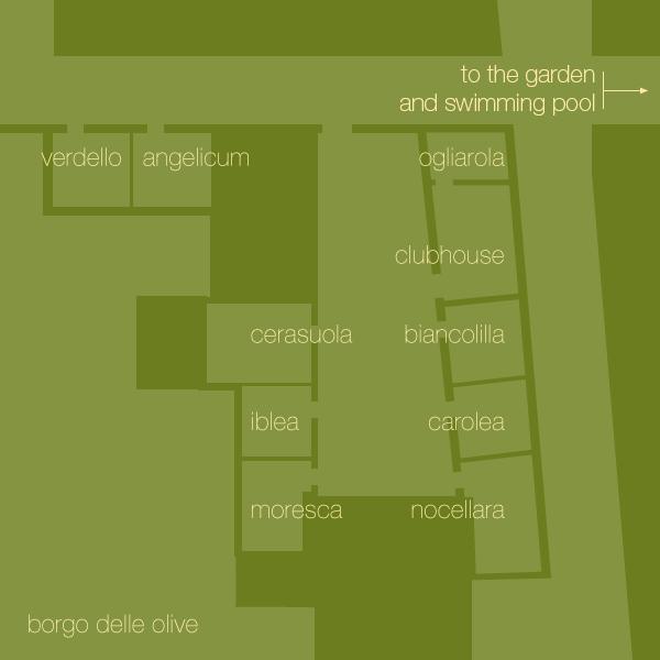 Ground plan Borgo delle Olive